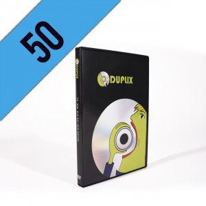 50 DVD-R DVDBOX PERSONALIZZATI