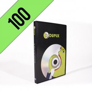 100 DVD-R DVDBOX PERSONALIZZATI