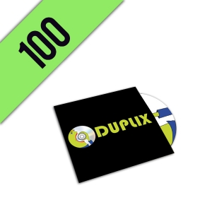 100 DVD-R CARTONSLEEVE PERSONALIZZATI