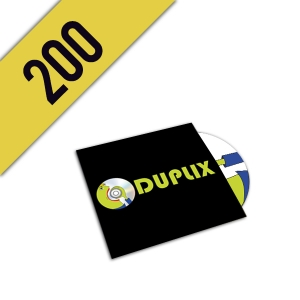 200 DVD-R CARTONSLEEVE PERSONALIZZATI