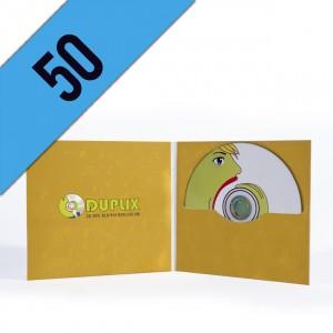 50 DVD-R DIGIFILE PERSONALIZZATI