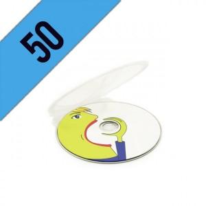 50 DVD-R CLAM SHELL PERSONALIZZATI
