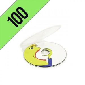 100 DVD-R CLAM SHELL PERSONALIZZATI