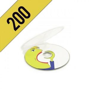 200 DVD-R CLAM SHELL PERSONALIZZATI
