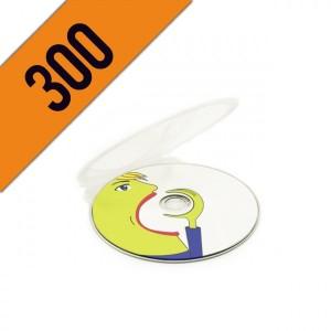 300 DVD-R CLAM SHELL PERSONALIZZATI