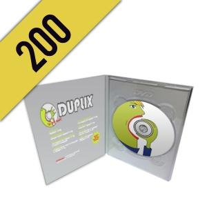 200 DVD-R DVD PACK PERSONALIZZATI