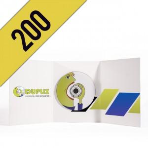 200 DVD-R DVD PACK LIGHT PERSONALIZZATI