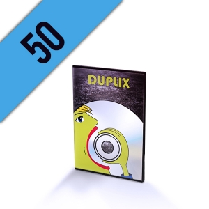 50 DVD-R DVD SLIMBOX PERSONALIZZATI