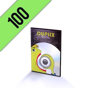 100 DVD-R DVD SLIMBOX PERSONALIZZATI