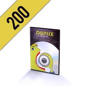 200 DVD-R DVD SLIMBOX PERSONALIZZATI
