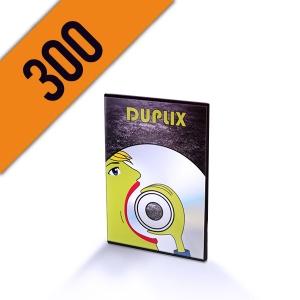 300 DVD-R DVD SLIMBOX PERSONALIZZATI